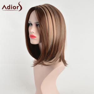 Adiors Slight Side Part Medium Hightlight Straight Bob Synthetic Hair