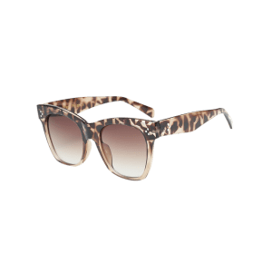 UV Protection Ombre Wide Wayfarer Sunglasses - LEOPARD