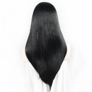 Charming Long Natural Straight Heat Resistant Synthetic Vogue Lace Front Wig For Women -