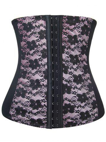 Cheap Lace Panel Steel Boned Underbust Corset
