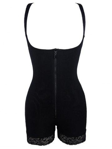 Best Padded Butt Backless Corset Bodysuit BLACK S