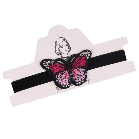 Discount Embellished Butterfly Embroidery Velvet Choker Necklace - BLACK  Mobile
