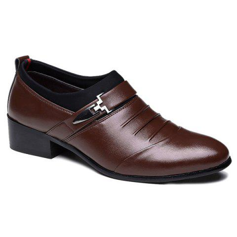 Faux Leather Ruched Formal Shoes