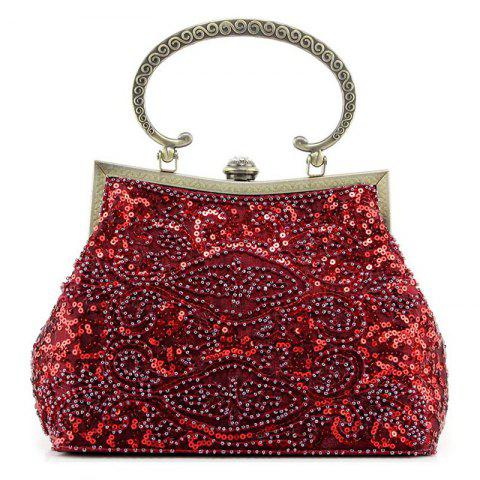 Fashion Metal Trim Sequins Beaded Evening Bag