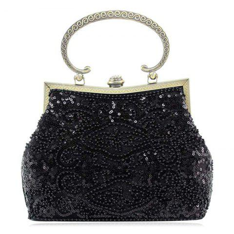 Cheap Metal Trim Sequins Beaded Evening Bag