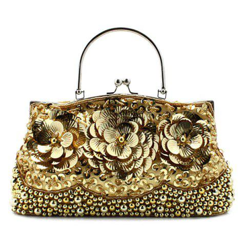 Affordable Flowers Beaded Evening Bag