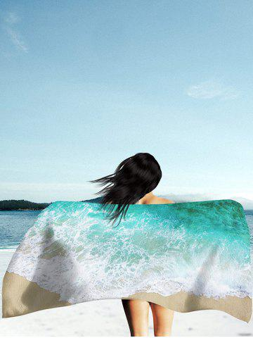 Unique Sea Tide Printed Polyester Fabric Beach Throw