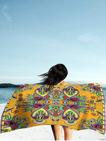 Affordable Floral Print Rectangle Beach Throw