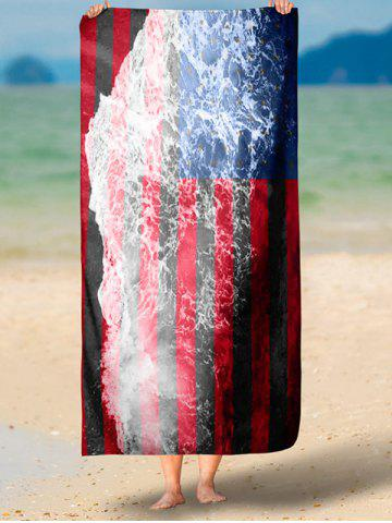 Outfits Patriotic Flag and Sea Tide Print Rectangle Beach Throw - 2XL MULTICOLOR Mobile