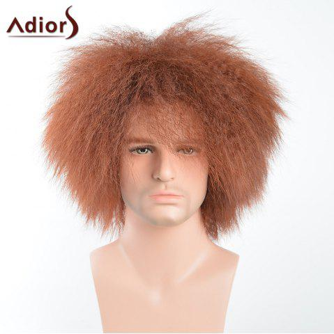 Discount Adiors Shaggy Natural Afro Men Short Synthetic Wig COLORMIX