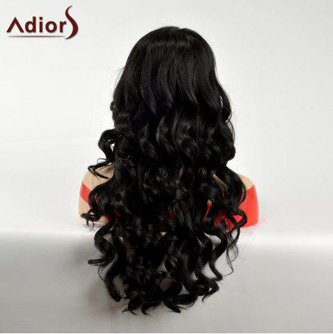 New Adiors Side Part Lace Front Long Body Wave Synthetic Hair - BLACK  Mobile