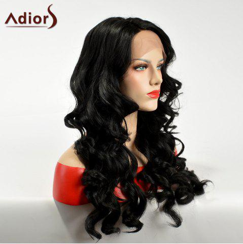 Outfits Adiors Side Part Lace Front Long Body Wave Synthetic Hair - BLACK  Mobile