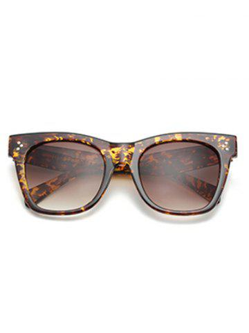 Hot UV Protection Ombre Wide Wayfarer Sunglasses - LEOPARD+BROWN  Mobile