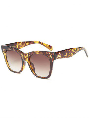 Trendy UV Protection Ombre Wide Wayfarer Sunglasses - LEOPARD+BROWN  Mobile