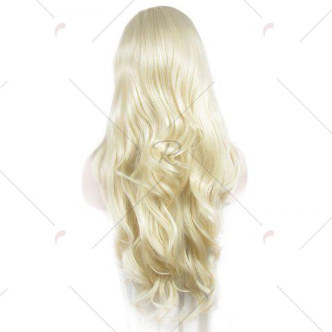 Shop Outstanding Towheaded Wavy Stylish Long Heat Resistant Fiber Lace Front Wig For Women - LIGHT BLONDE 1001/613#  Mobile