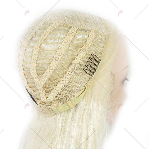 Best Outstanding Towheaded Wavy Stylish Long Heat Resistant Fiber Lace Front Wig For Women - LIGHT BLONDE 1001/613#  Mobile