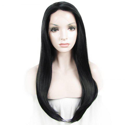 Latest Charming Long Natural Straight Heat Resistant Synthetic Vogue Lace Front Wig For Women