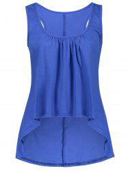 U Neck Ruched High Low Tank Top -
