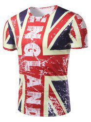 Graphic Vintage Union Jack Print Patriotic T-Shirt