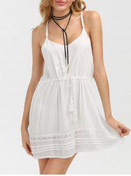 Tassel Drawstring Waist Slip Dress