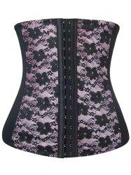 Lace Panel Steel Boned Underbust Corset -