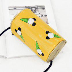 Print Cylinder Shaped Crossbody Bag