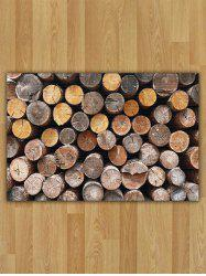 Wood Print Nonslip Flannel Area Rug