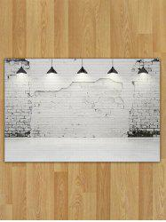 Flannel Broken Wall Lamp Pattern Area Rug