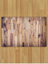 Wood Pattern Flannel Skidproof Area Rug
