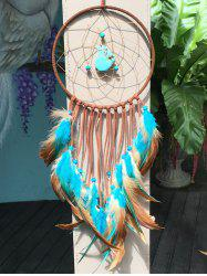 Dreamcatcher Artificial Turquoise Feather Hang Home Decoration - MULTICOLOR