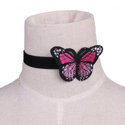 Embellished Butterfly Embroidery Velvet Choker Necklace