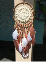 Feather Crochet Flower Hang Dreamcatcher Home Decoration - MULTICOLOR