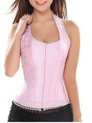 Halter Steel Boned Lace-Up Corset