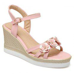 Wedge Heel Flowers Sandals