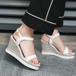 Wedge Heel Suede Sandals