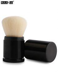 MAANGE Télescopique Tube Nylon Blush Brush - Blanc