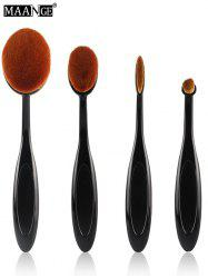 MAANGE 4 Pcs Nylon Oval Makeup Brushes Set