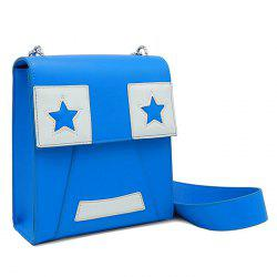Star Pattern Faux Leather Crossbody Bag