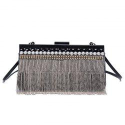 Rhinestone Beaded Fringe Evening Bag