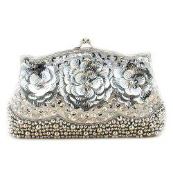 Flowers Beaded Evening Bag