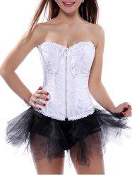 Ruffle Lace-Up Corset Top