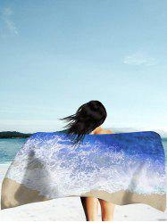 Rectangle Beach Throw with Mar Tides Imprimer