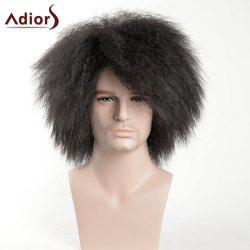 Adiors Shaggy Short Side Bang Afro Men Synthetic Wig