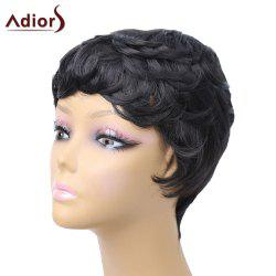 Adiors Pixie Short Slightly Curled Side Bang Layered Synthetic Wig
