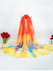 Digital Inkjet Butterfly Gossamer Ice Silk Scarf