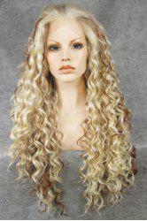 Chic Ombre Fluffy Long Curly Heat Resistant Synthetic Women's Lace Front Wig