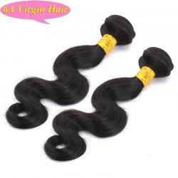 Fashion Body Wave Natural Black 2 Pcs/Lot 6A Chinese Virgin Hair Weave For Women