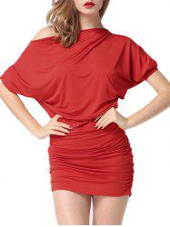 Intimate Batwing Sleeve Ruched Dress