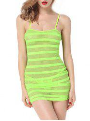 Openwork See Through Slip Dress