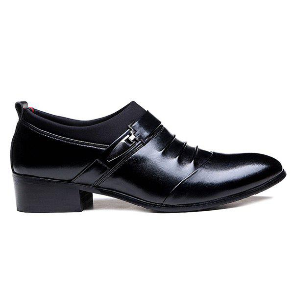 New Faux Leather Ruched Formal Shoes